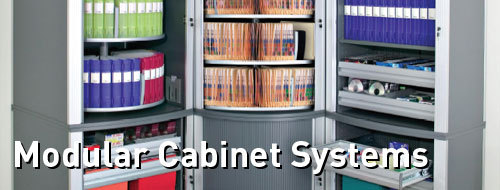 Modular Carousel And Tambour Door Cabinet Systems, Filing Cabinets, Filing  Systems, File Folders